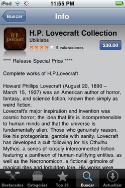 Todo Lovecraft en el iPod