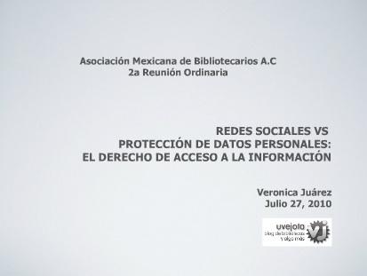 Redes sociales vs Protección de Datos Personales