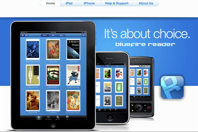 Bluefire Reader app for iPod