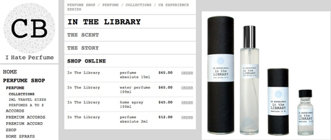 In the library perfume