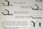Instrucciones para abrir un libro