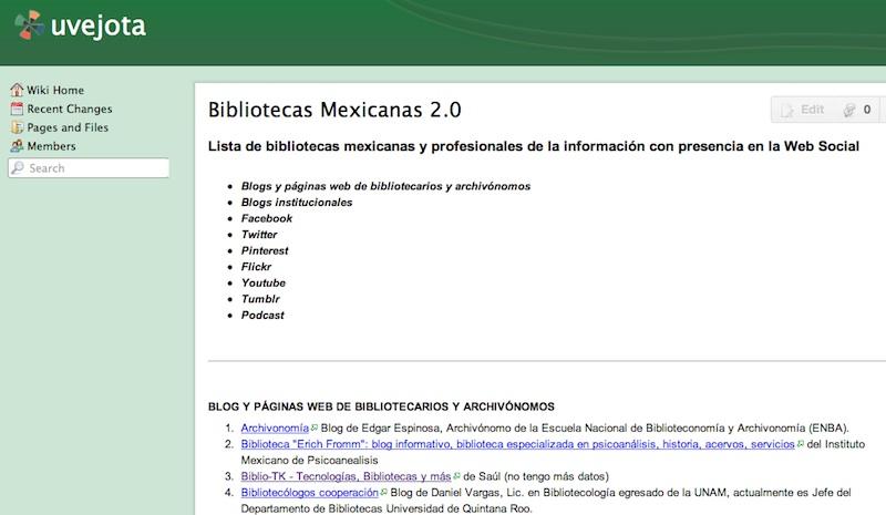 Bibliotecas Mexicanas con Presencia en Redes Sociales (Junio 2012)
