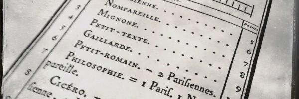 Manuel typographique*