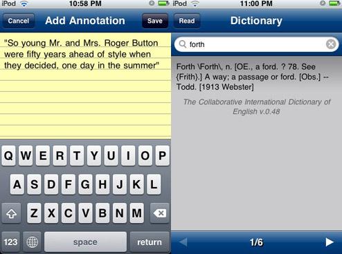 Notas y diccionario Stanza