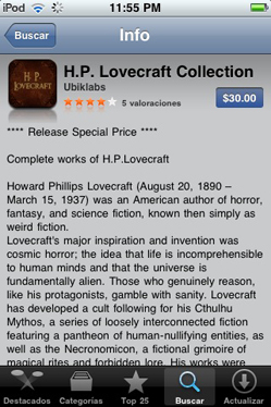 Todo Lovecraft en el iPod