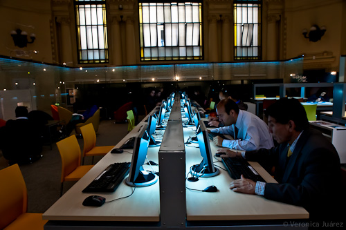Biblioteca Nacional de Chile, Sala de lectura
