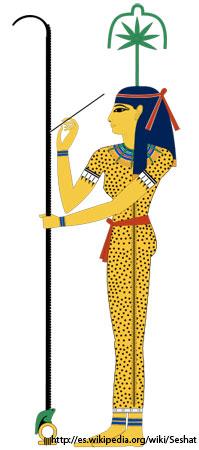 Seshat, diosa de la escritura