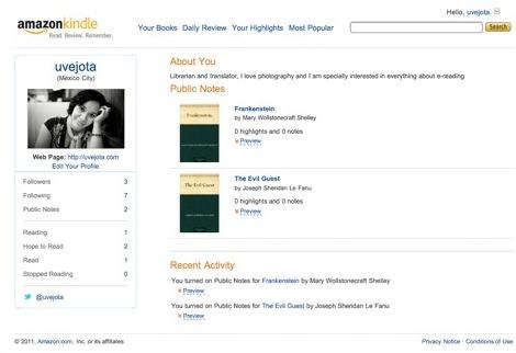 Red social Kindle Amazon