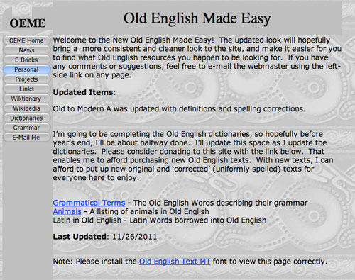 Old english made easy