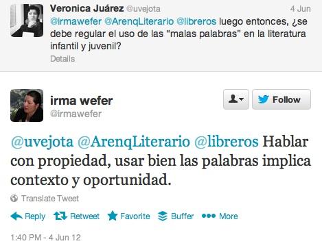 tweet irma wefer