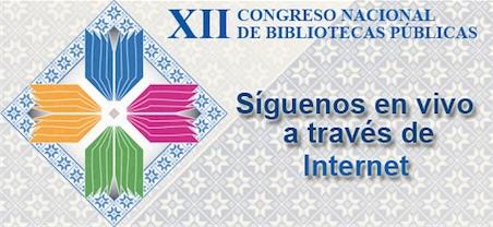 Cartel XII Congreso Nacional de Bibliotecas Públicas