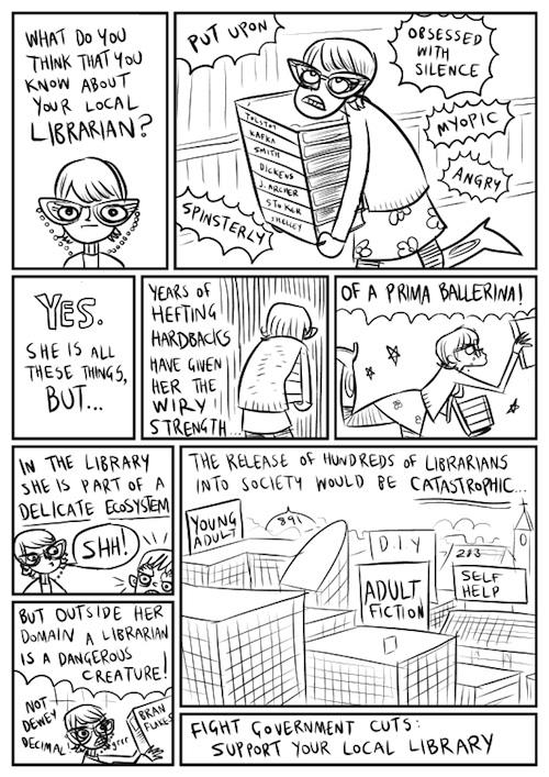 ¡Cuidado con los bibliotecarios desempleados!